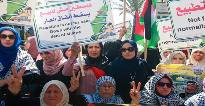 Palestinians protest against UAE-Israel peace deal