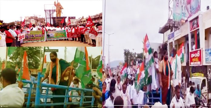 New Farm Laws Prompt Congress and Left parties to Stage Protests in Telangana