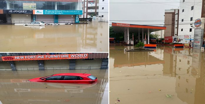 Hyderabad floods;LRS;Hyderabad ;floods