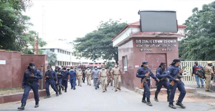 Heavy security has been deployed for GHMC election