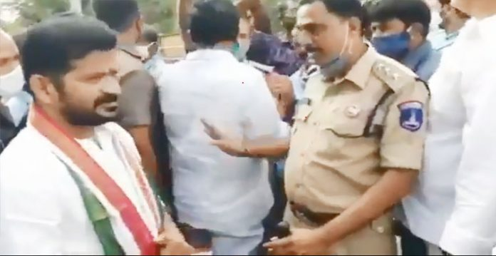 Police resort to Lathi Charge on Congress party workers in Qutbullapur