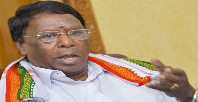 cm narayanaswamy accuses centre of political prostitutionafter losing floor testresigns