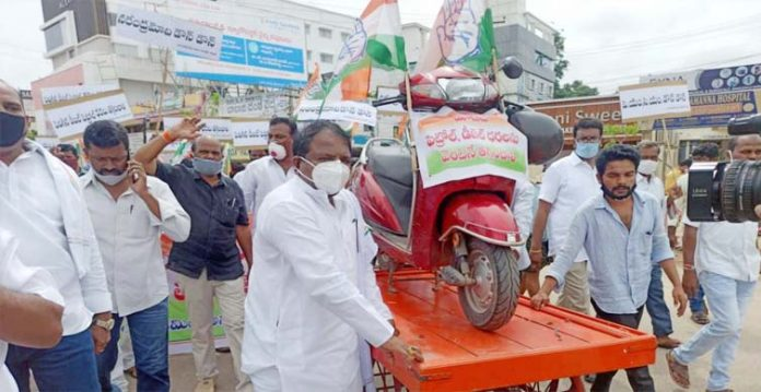 congress to protest against rising fuel prices