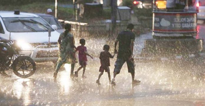 hyderabad's sudden rains bring joy to many and death to one by electric shock