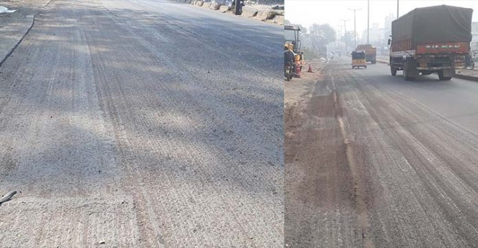 pavement milling and wayside digging works makes attapur, a perilous route