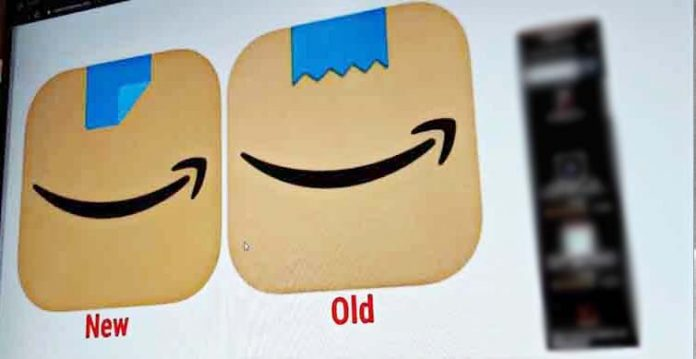 amazon modifies app icon after comparisons with adolf hitler's moustache