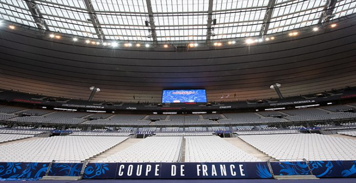 france turns national stadium into vaccination centre