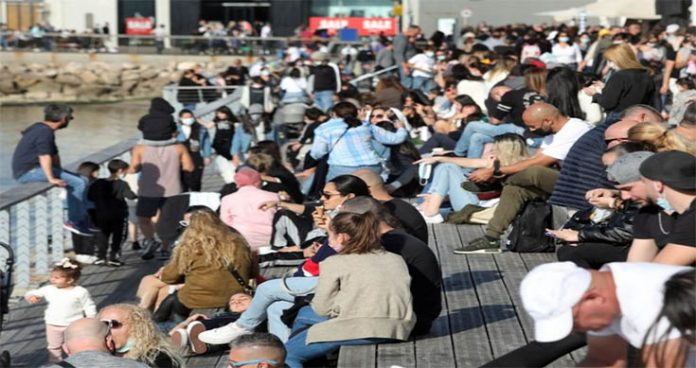 outdoor mask restriction lifted in israel