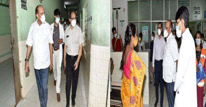 cs visits golconda area hospital , inspects second dose of vaccination drive