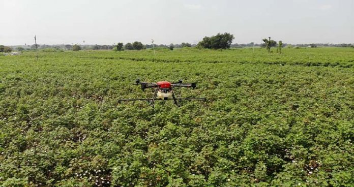 agri university to upscale drone technology to carry out precise farming