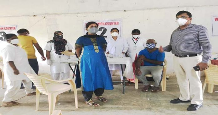 Shifting vaccination center frequently made people vexed in Rajendranagar