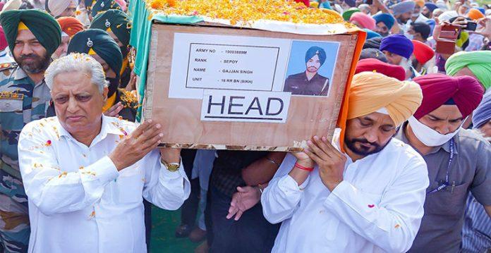 punjab cm participates in ardas for jammu & kashmir martyr